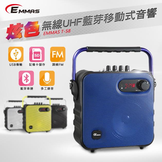 EMMAS 移動式藍芽喇叭/教學無線麥克風 (T-58)腰掛式 1
