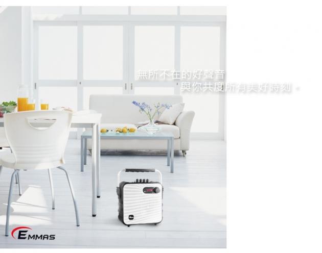 EMMAS 移動式藍芽喇叭/教學無線麥克風 (T-58) 5