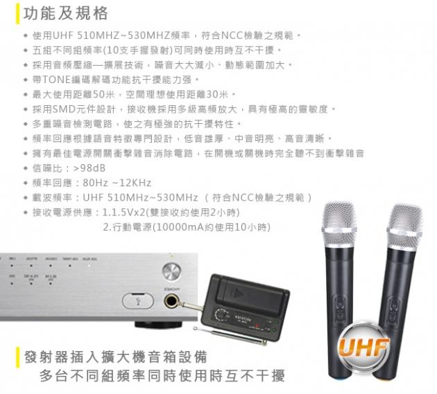 【EAGLE】專業級UHF無線麥克風組 EWM-U9 3