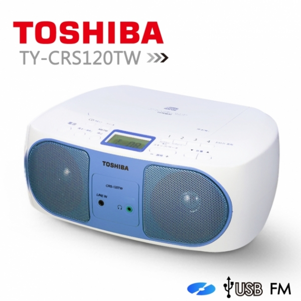 【TOSHIBA】福利品 CD/連接手機MP3/耳機/line in手提音響(TY-CRS120TW) 1